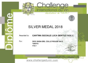 Silver Medal 2018 Cantina Gentile