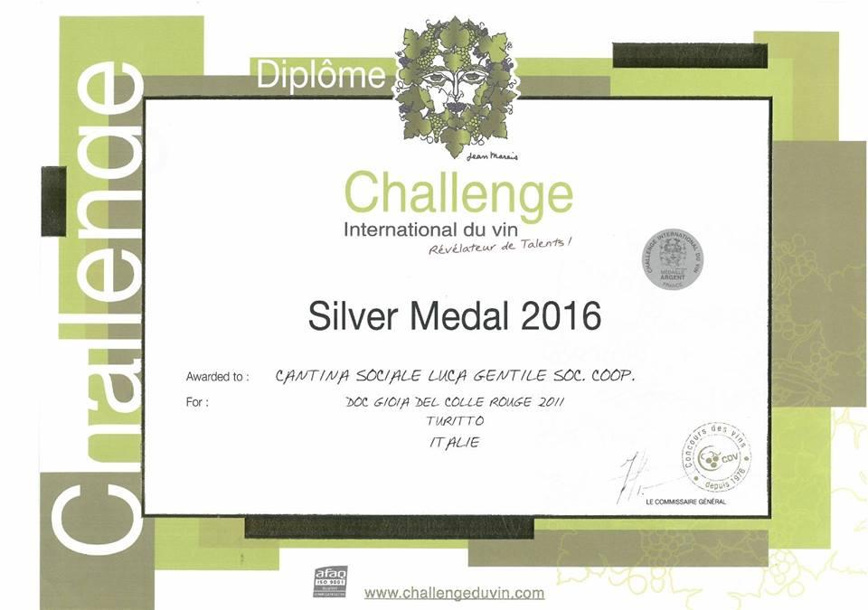 Premio: diploma vinto da vino Turitto | Cantina Gentile