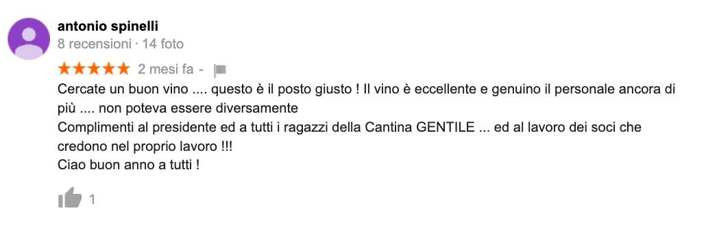 Recensione Cantina Gentile